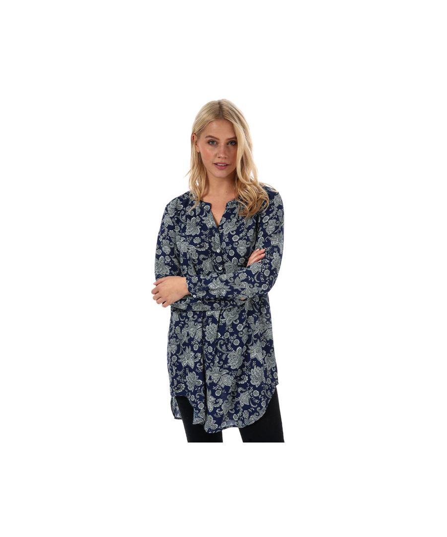 Image for Women's Only Nova Lux Paisley Long Tunic in Blue