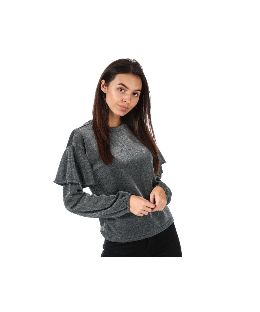 Image for Women's Only Tinsel Long Sleeve Top in Silver