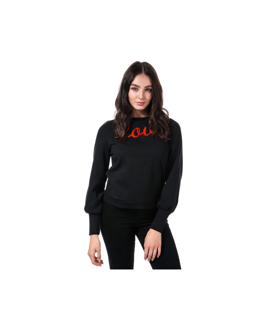Image for Women's Only Donna Love Crew Sweatshirt in Black