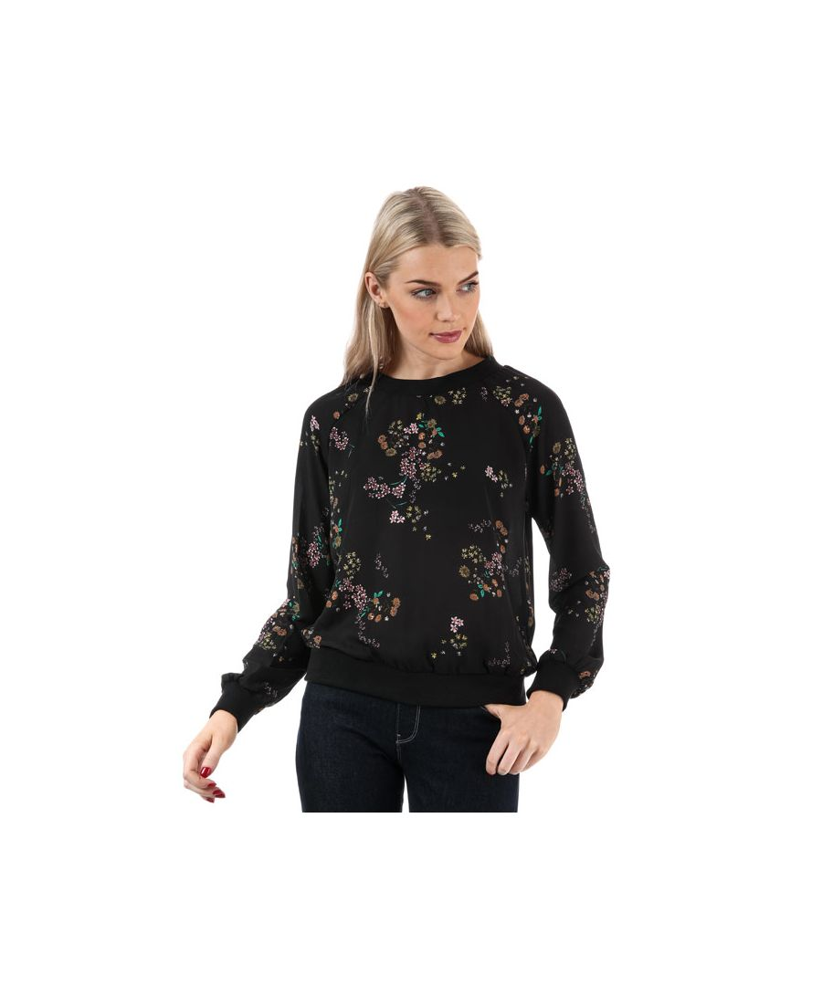 Image for Women's Only Loreen Printed Long Sleeve Top in Black