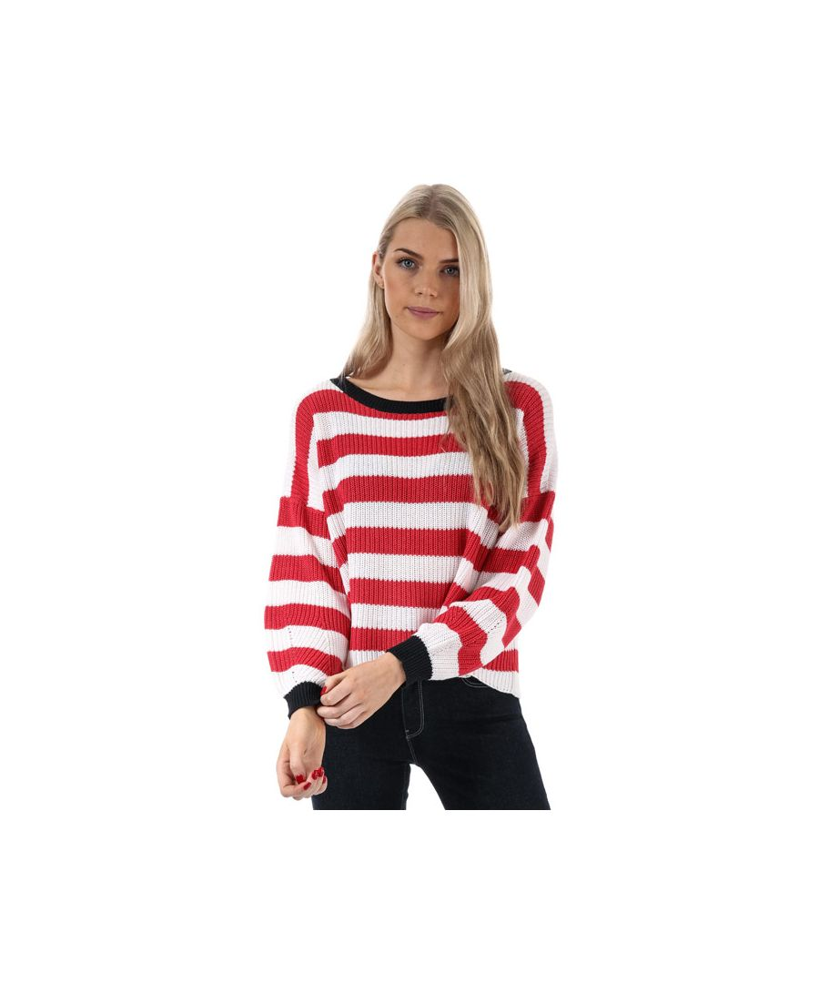 Image for Women's Only Hilde Stripe Jumper in Pink