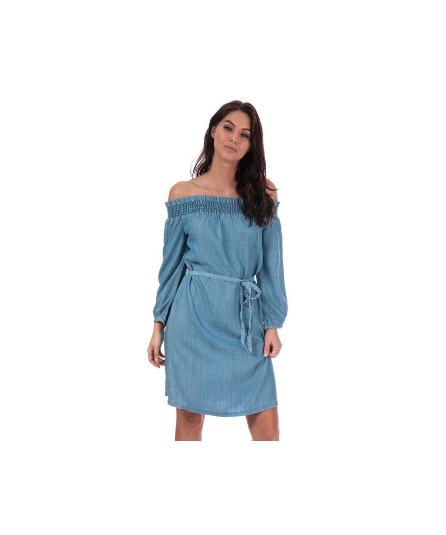 Image for Women's Only Samantha Off Shoulder Dress in Denim