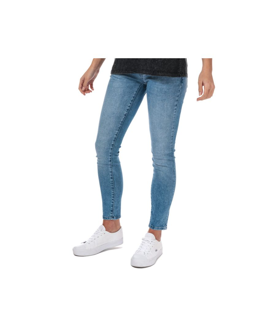 Image for Women's Only Coral Life Skinny Jeans in Light Blue