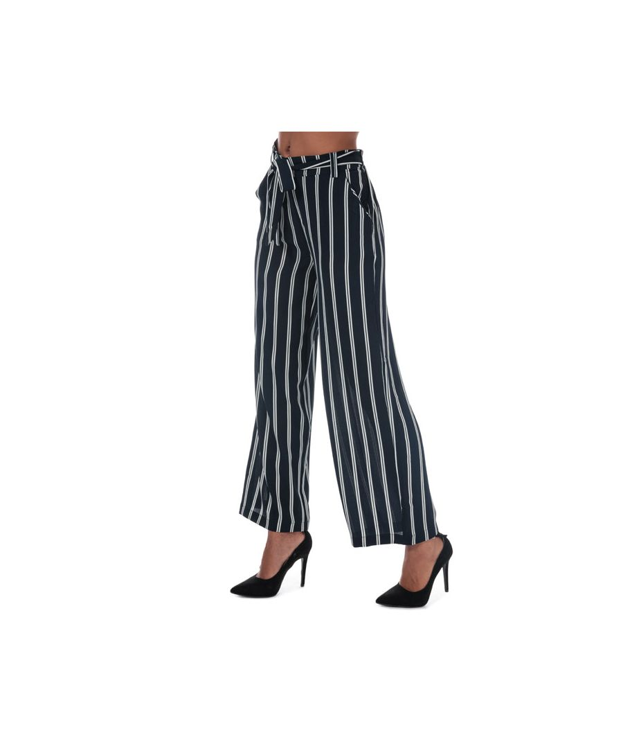 Image for Women's Only Winner Striped Palazzo Pants in Navy