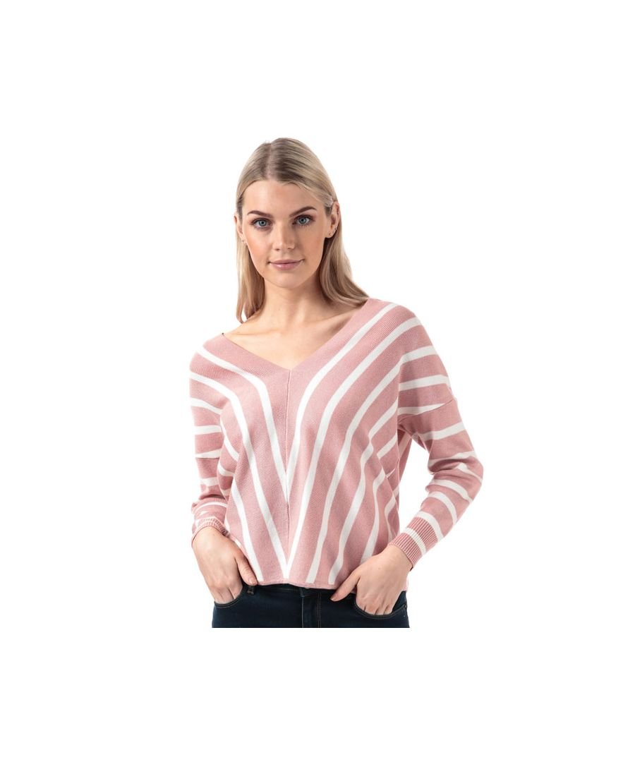 Image for Women's Only Aya V-Neck Jumper in Rose
