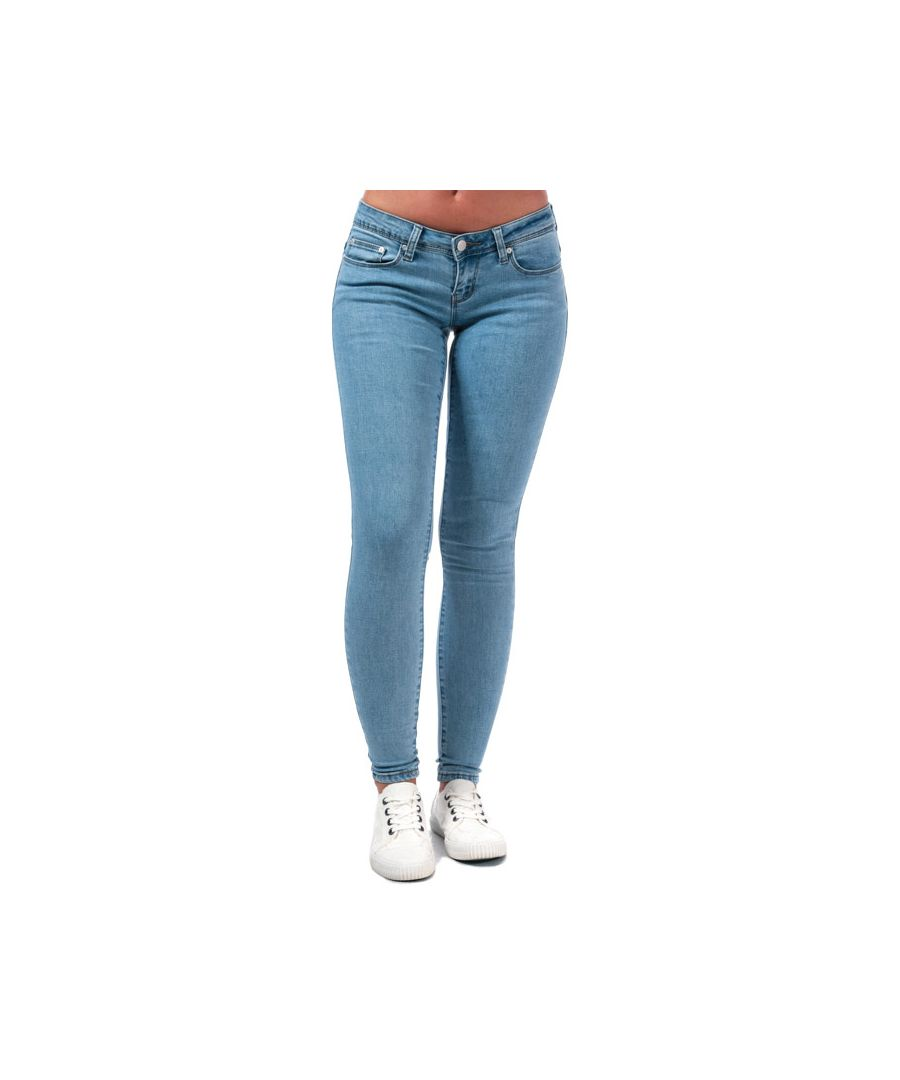 Image for Women's Only Wonder Coral Low Skinny Jeans in Light Blue