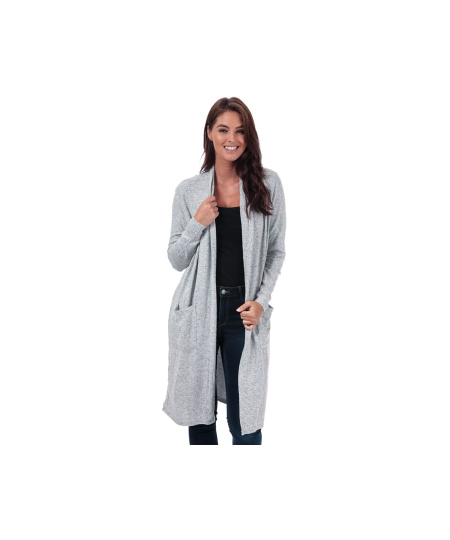 Image for Women's Only Maye Open Cardigan in Grey Marl