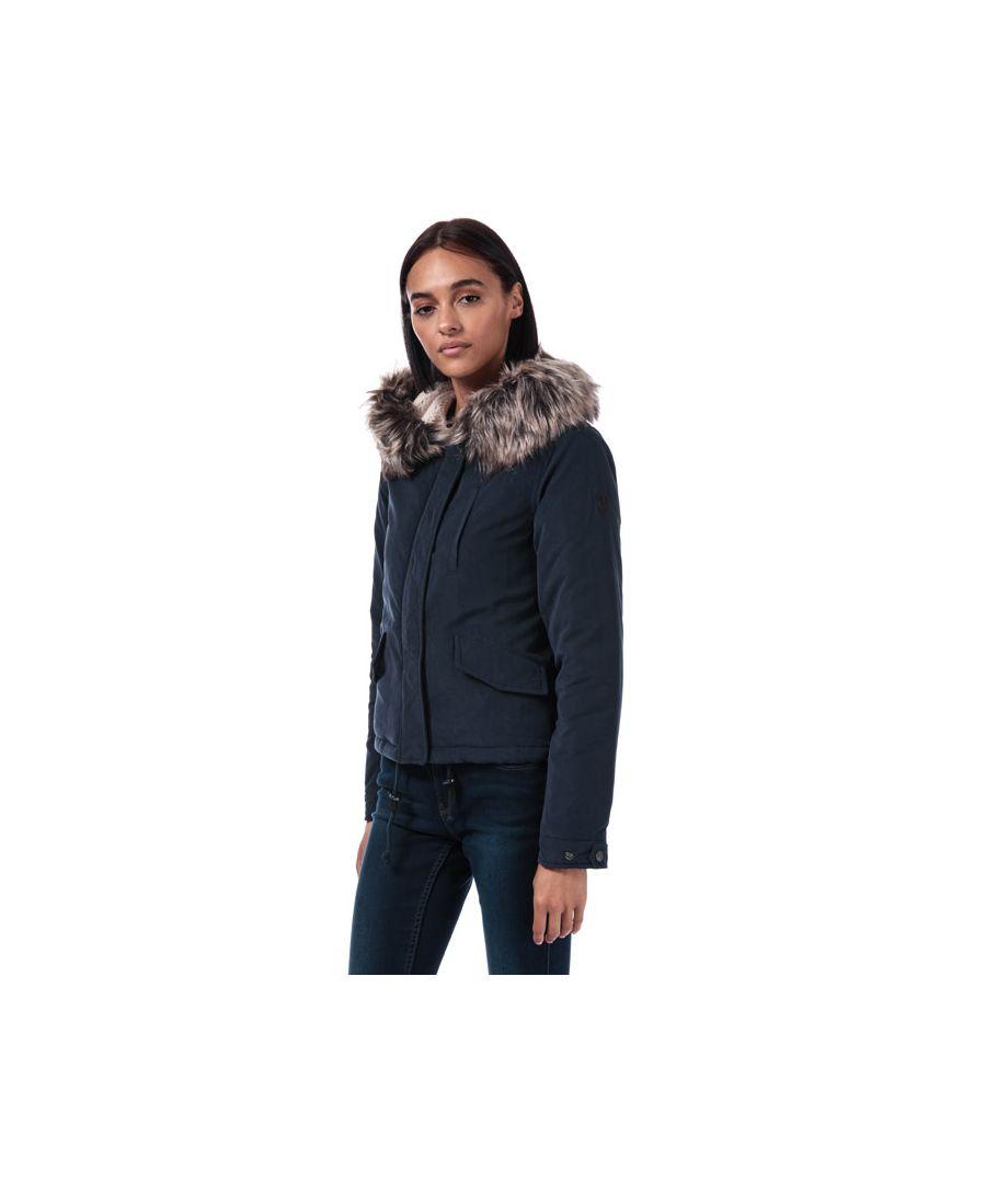 Image for Women's Only Skylar Parka Jacket in Navy