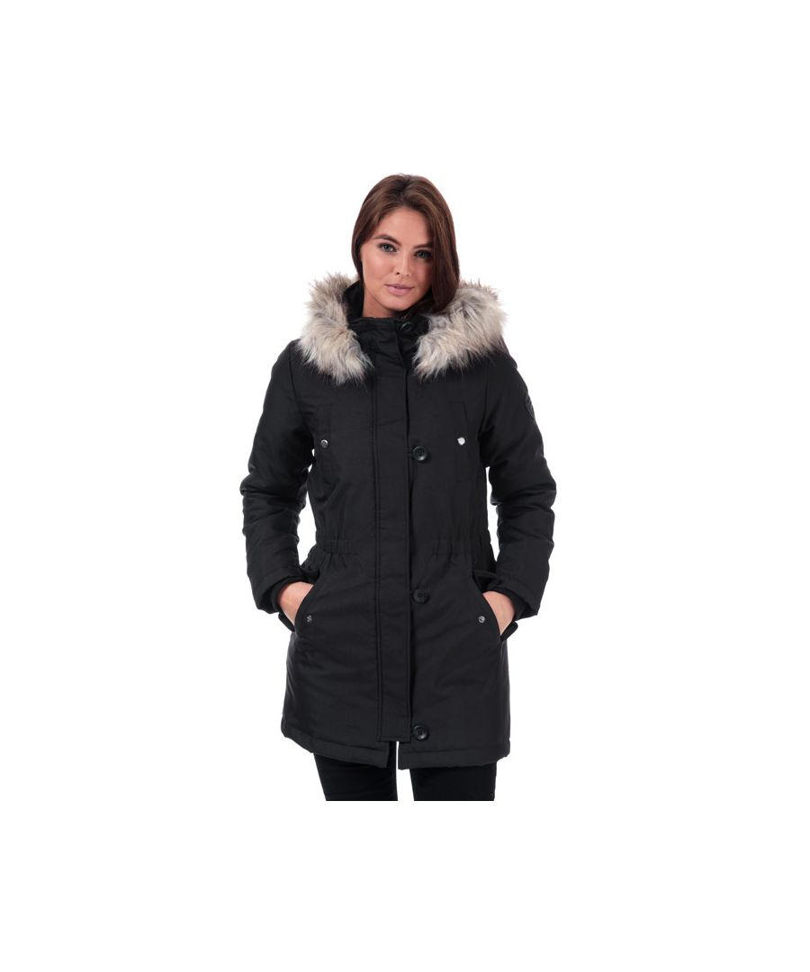 Image for Women's Only Iris Parka Jacket in Black