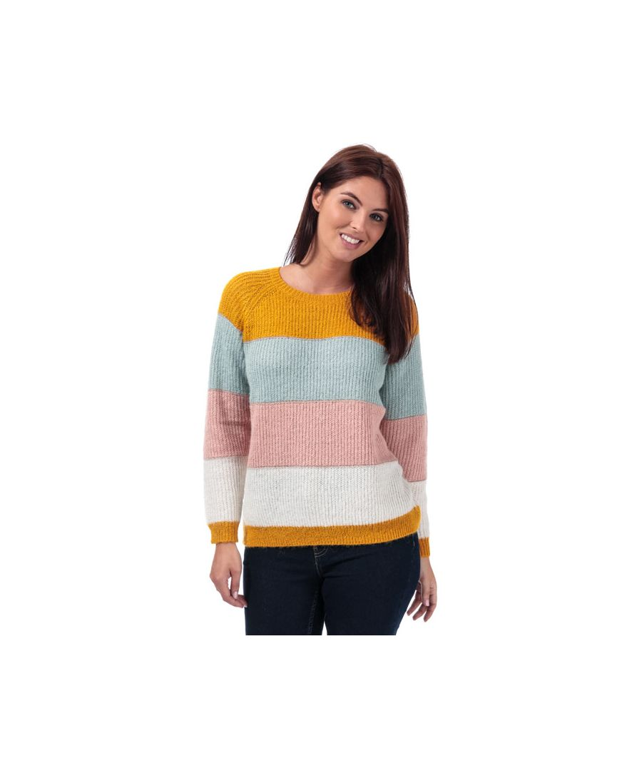 Image for Women's Only Malone Striped Jumper in Yellow