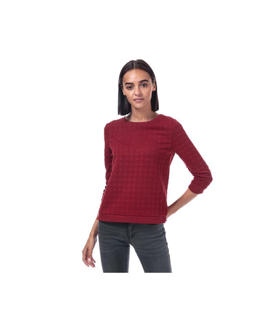 Image for Women's Only Mynthe Joyce Crew Sweatshirt in wine