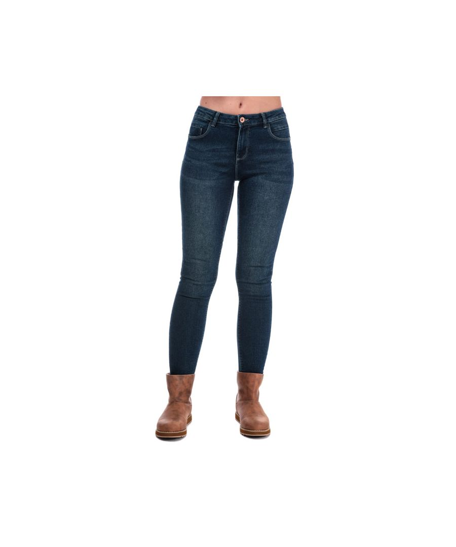 Image for Women's Only Daisy Push Up Skinny Jeans in Dark Blue