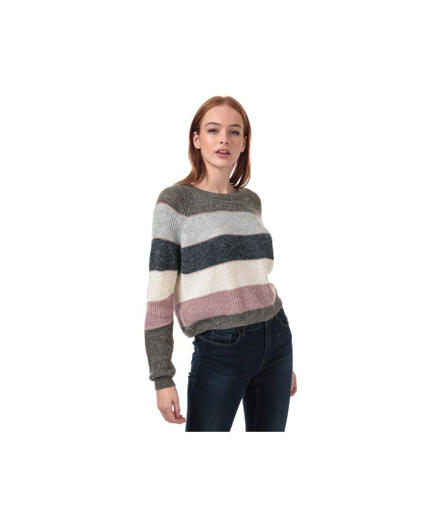 Image for Women's Only Stripe Jumper in Khaki