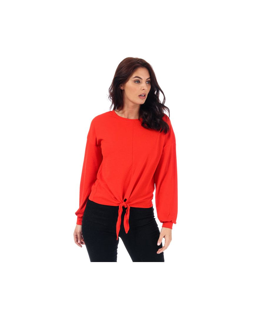 Image for Women's Only Madeleine Knot Jersey Top in Orange