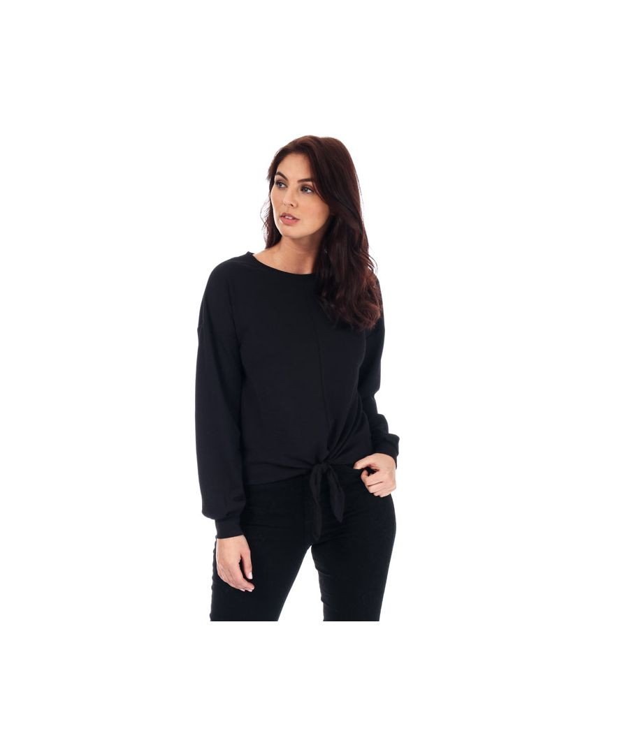 Image for Women's Only Madeleine Knot Jersey Top in Black