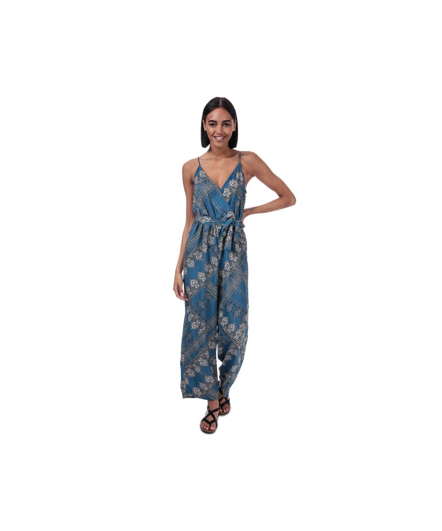 Image for Women's Only Diana Scarf Print Jumpsuit in Blue