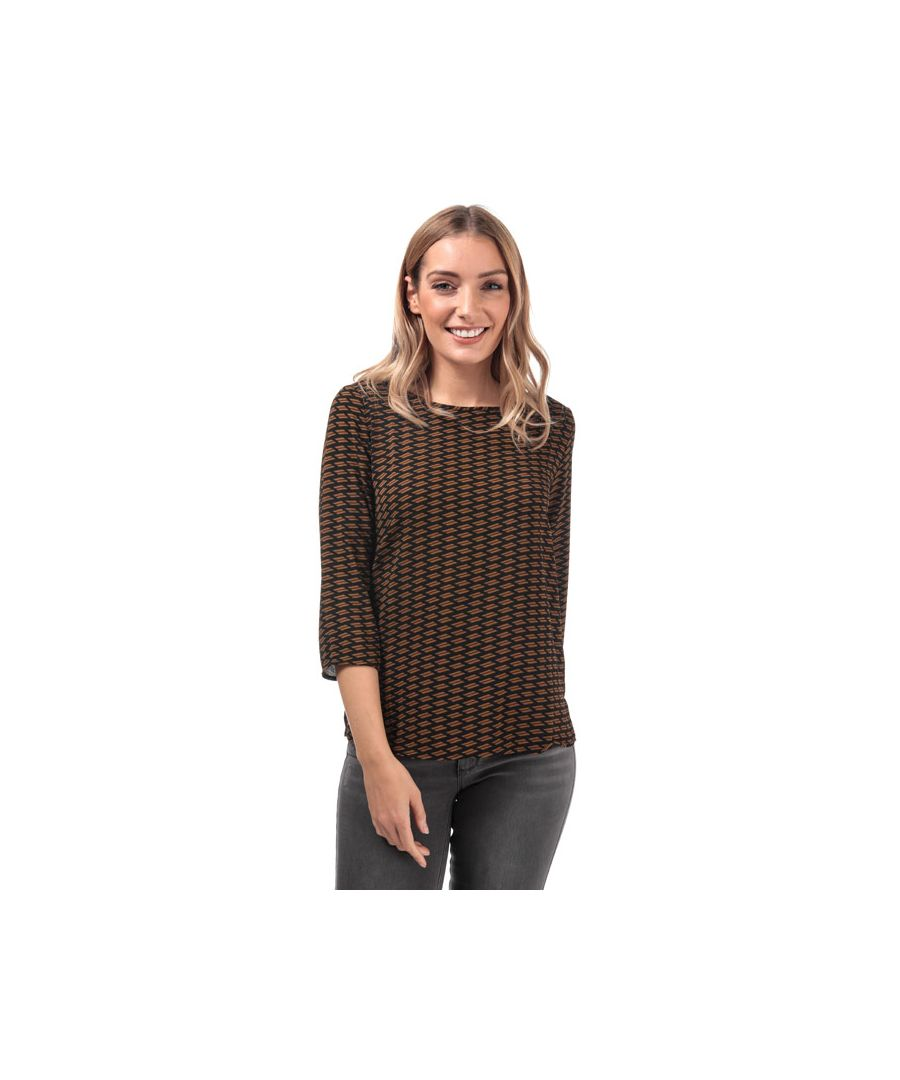 Image for Women's Only Nova Lux Mesa 3 Quarter Sleeve Top in Black