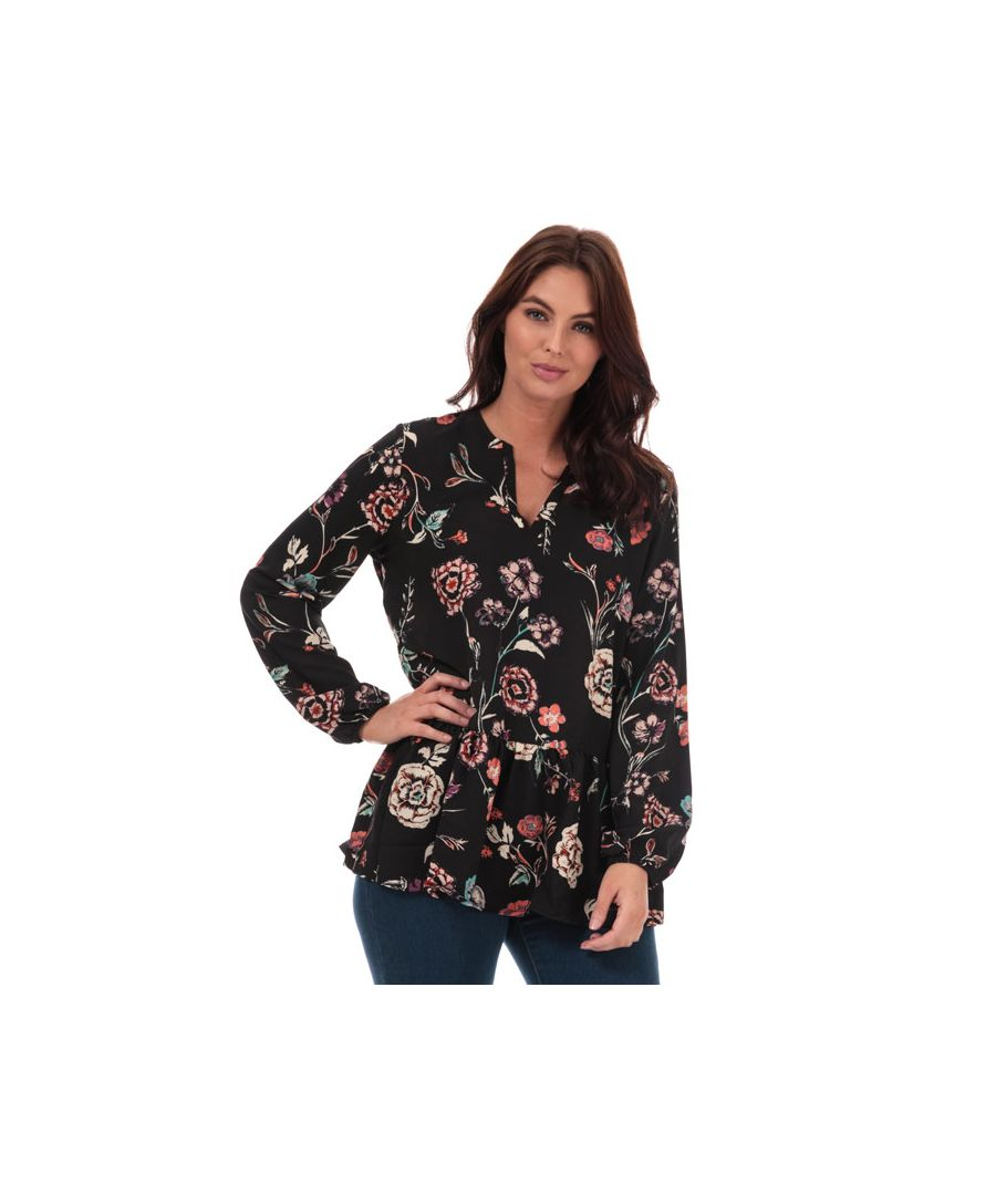 Image for Women's Jacqueline de Yong Ruby Floral Print Tunic in Black