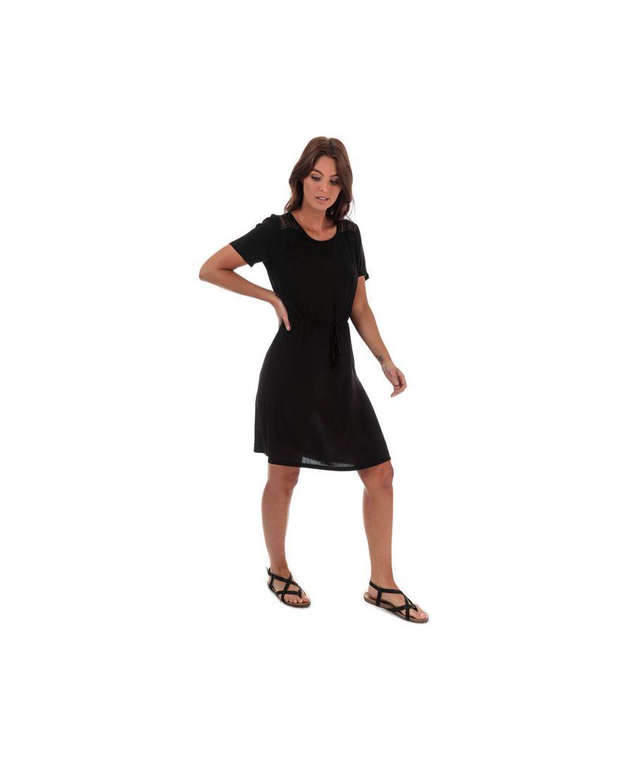 Image for Women's Jacqueline de Yong Summer Lace Trim Dress in Black