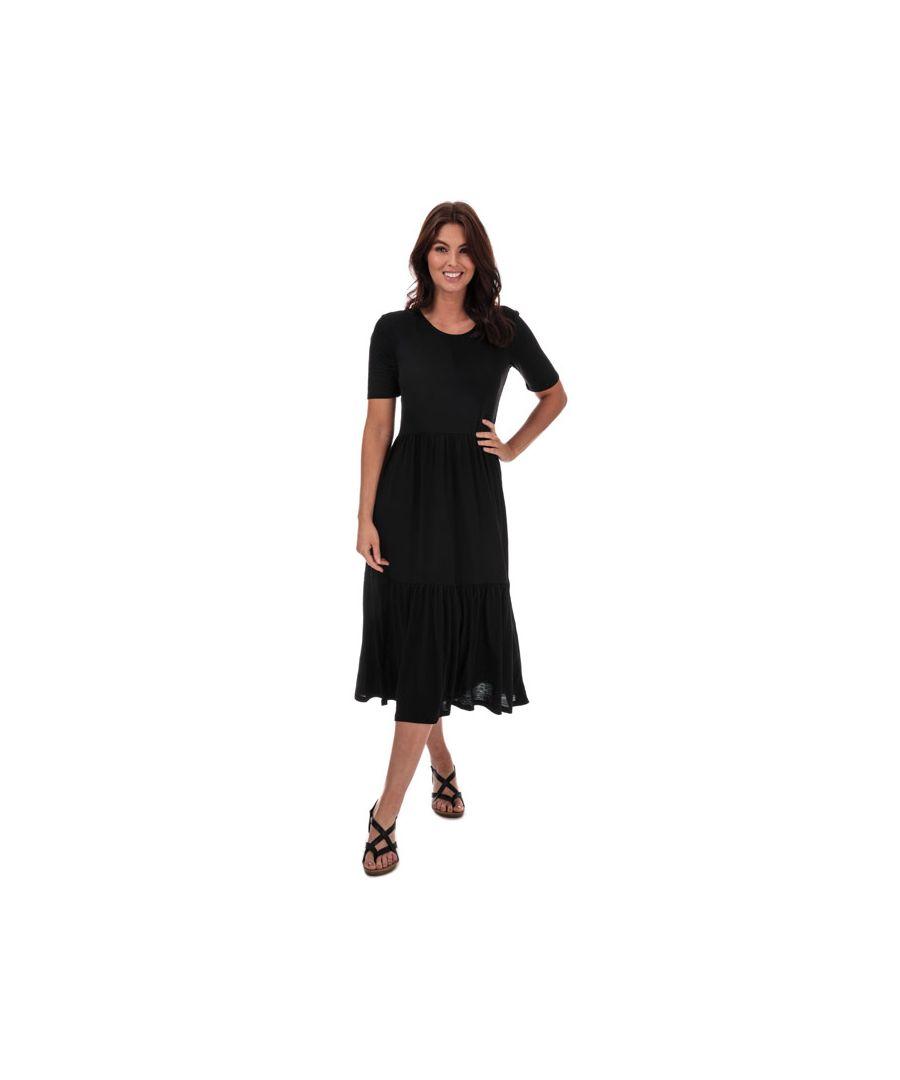 Image for Women's Jacqueline de Yong Dalila Frosty Maxi Dress in Black