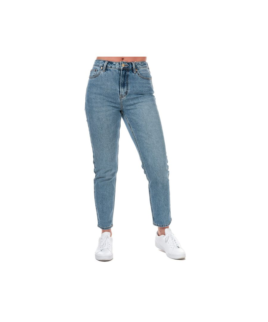 Image for Women's Only Emily Life High Waist Straight Ankle Jeans in Denim