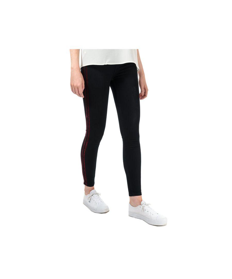Image for Women's Ted Baker Mehlia Striped Skinny Jeans in Dark Blue
