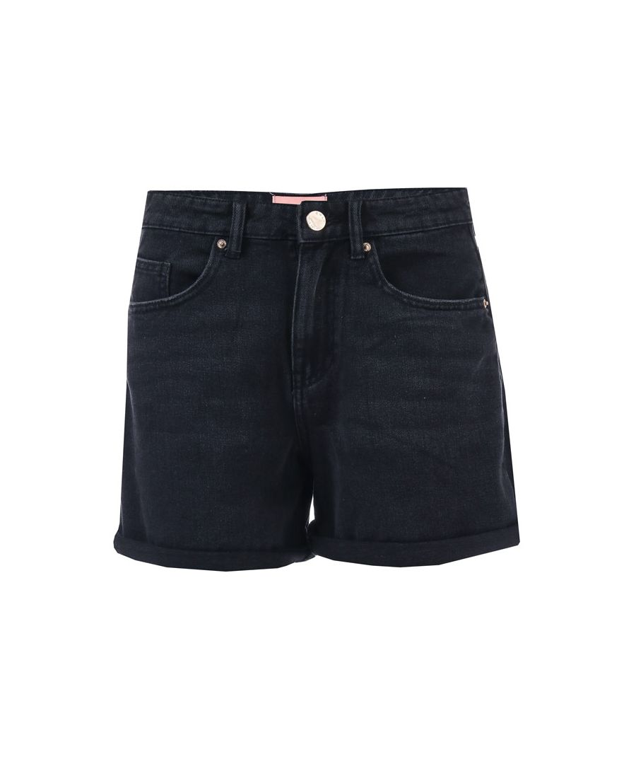 Image for Women's Only Phine Life Denim Shorts in Black
