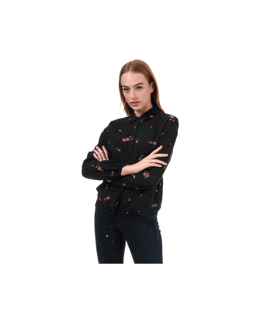 Image for Women's Only Alisa Life Floral Shirt in Black