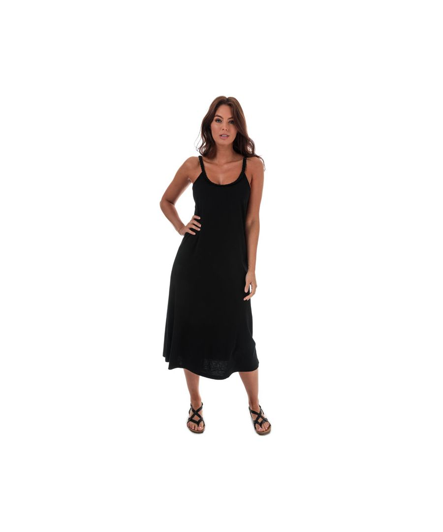 Image for Women's Jacqueline de Yong Flet Life Strappy Midi Dress in Black