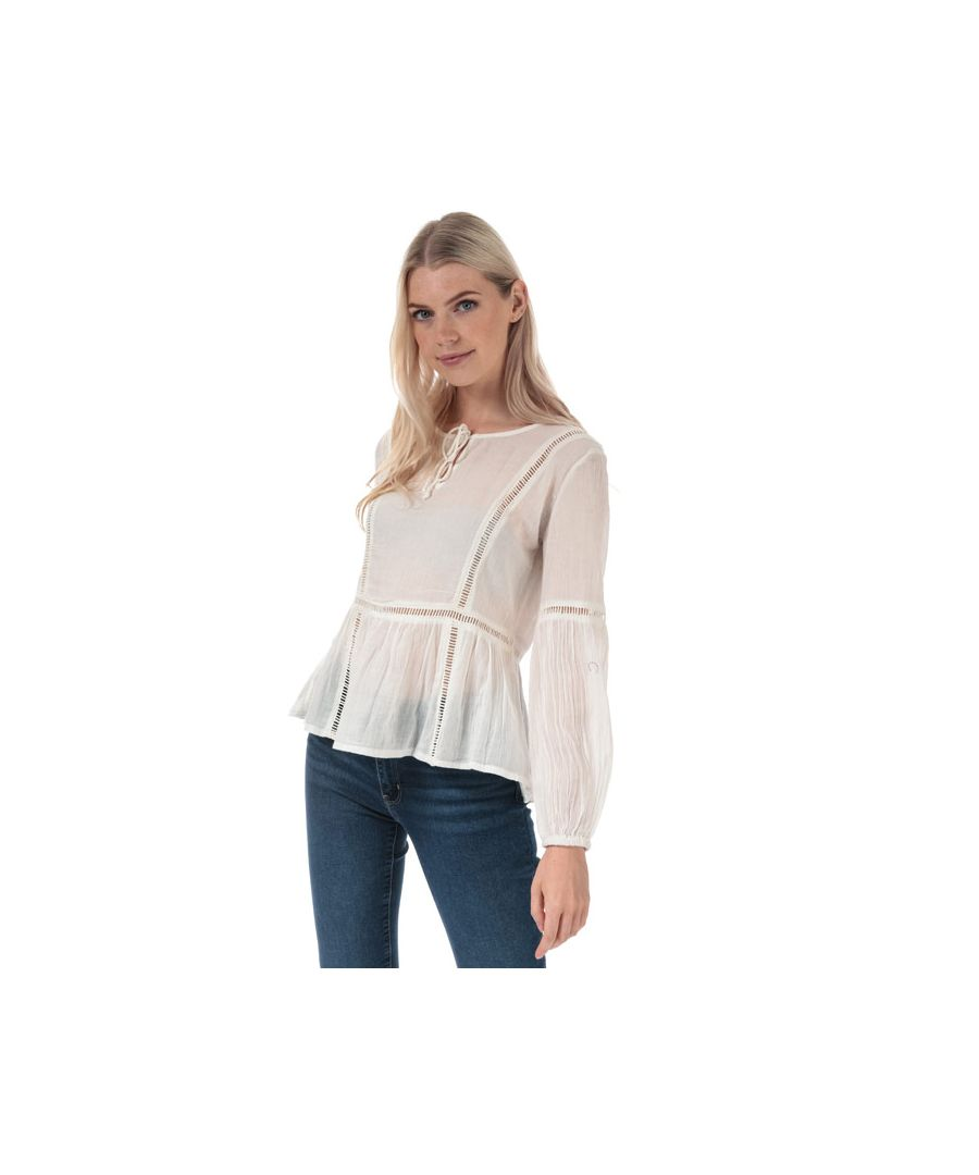 Image for Women's Jacqueline de Yong Trinity Life Lace Blouse in White