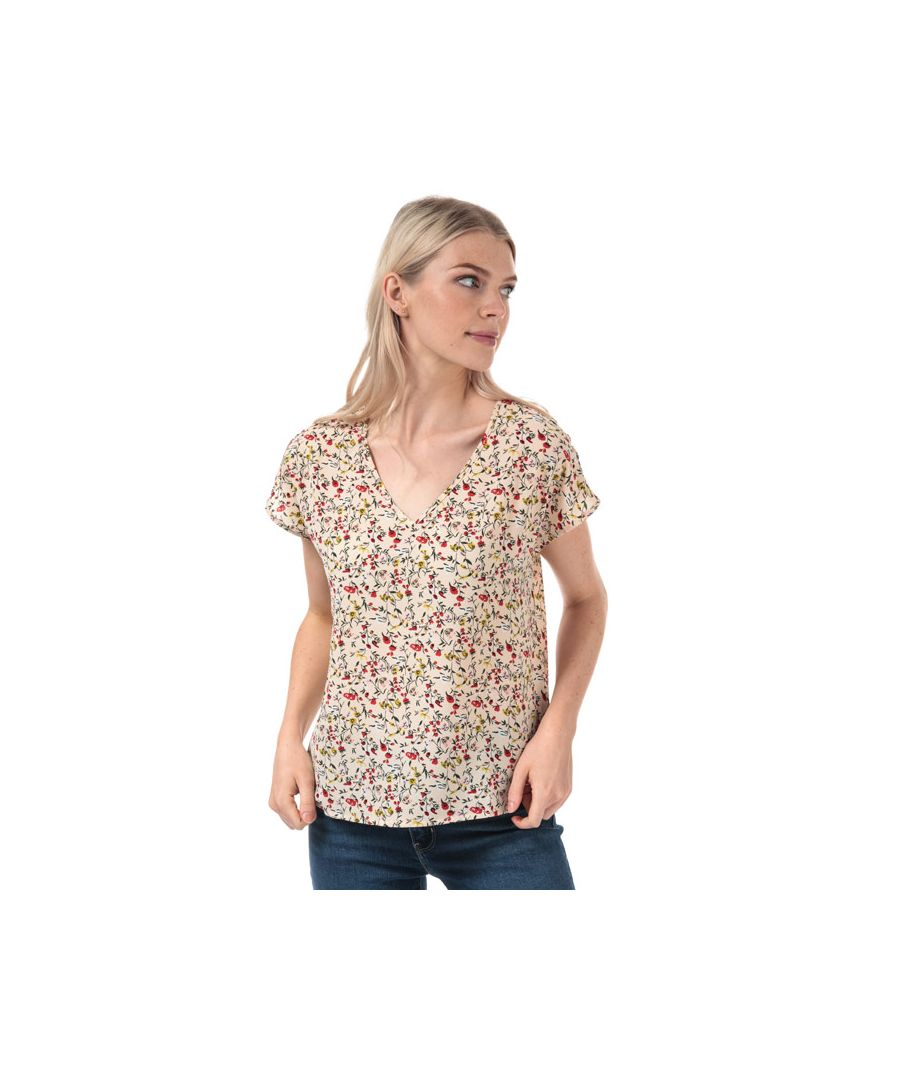 Image for Women's Jacqueline de Yong Tricky V-Neck Top in Sand