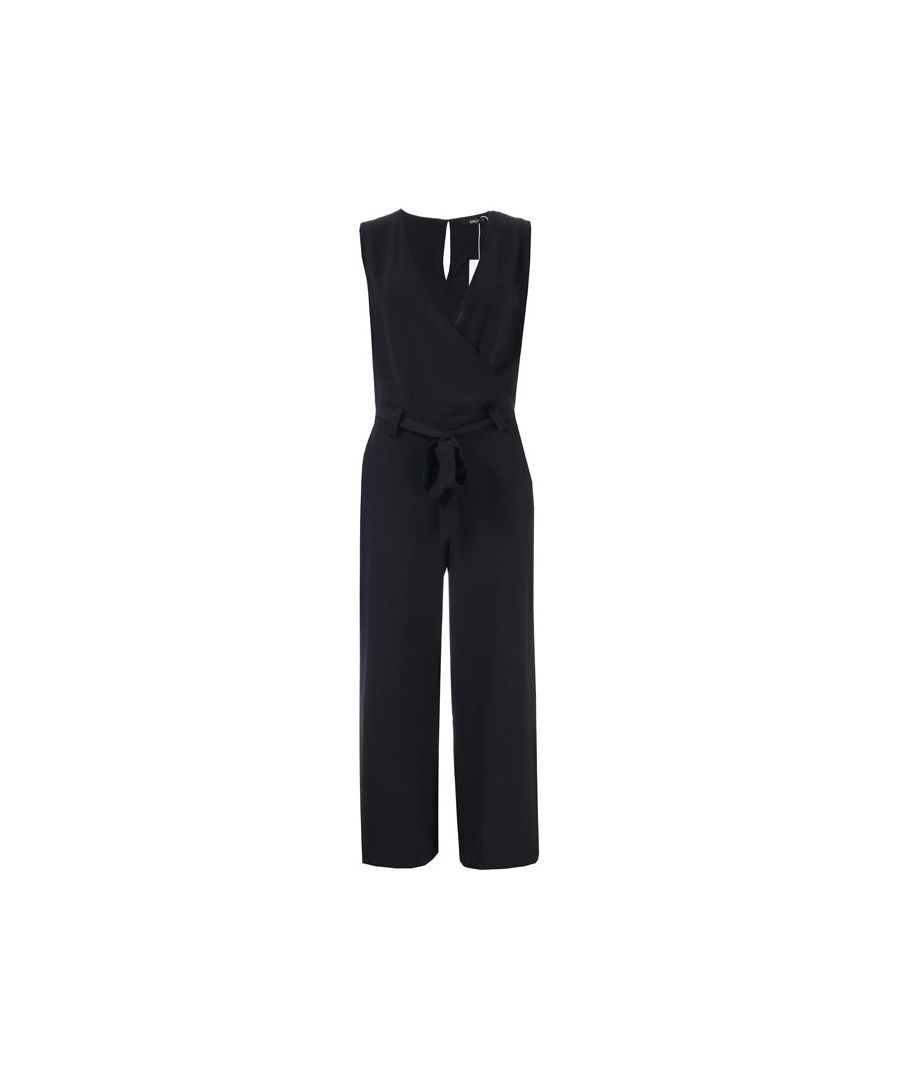 Image for Women's Only Nova Lux Wrap Jumpsuit in Black