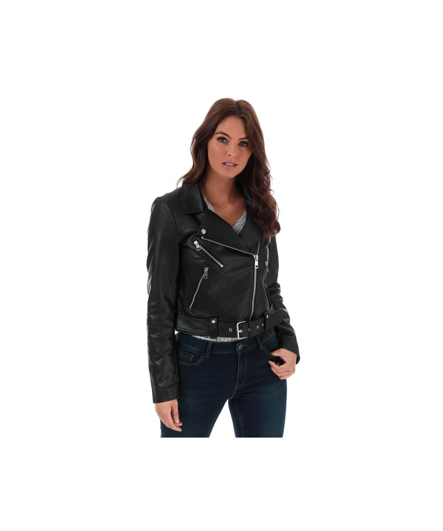 Image for Women's Only Valerie Faux Leather Jacket in Black