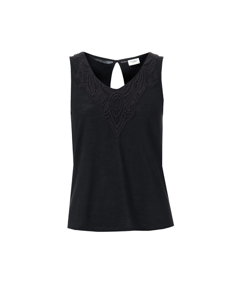 Image for Women's Jacqueline de Yong Dodo Sleeveless Top in Black
