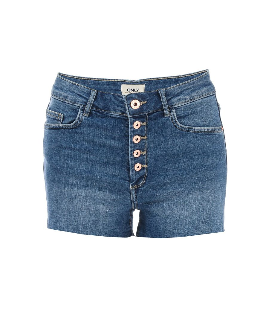 Image for Women's Only Hush Button Denim Shorts in Denim