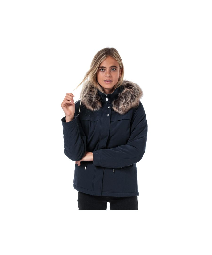 Image for Women's Only Starline Parka Jacket in Navy