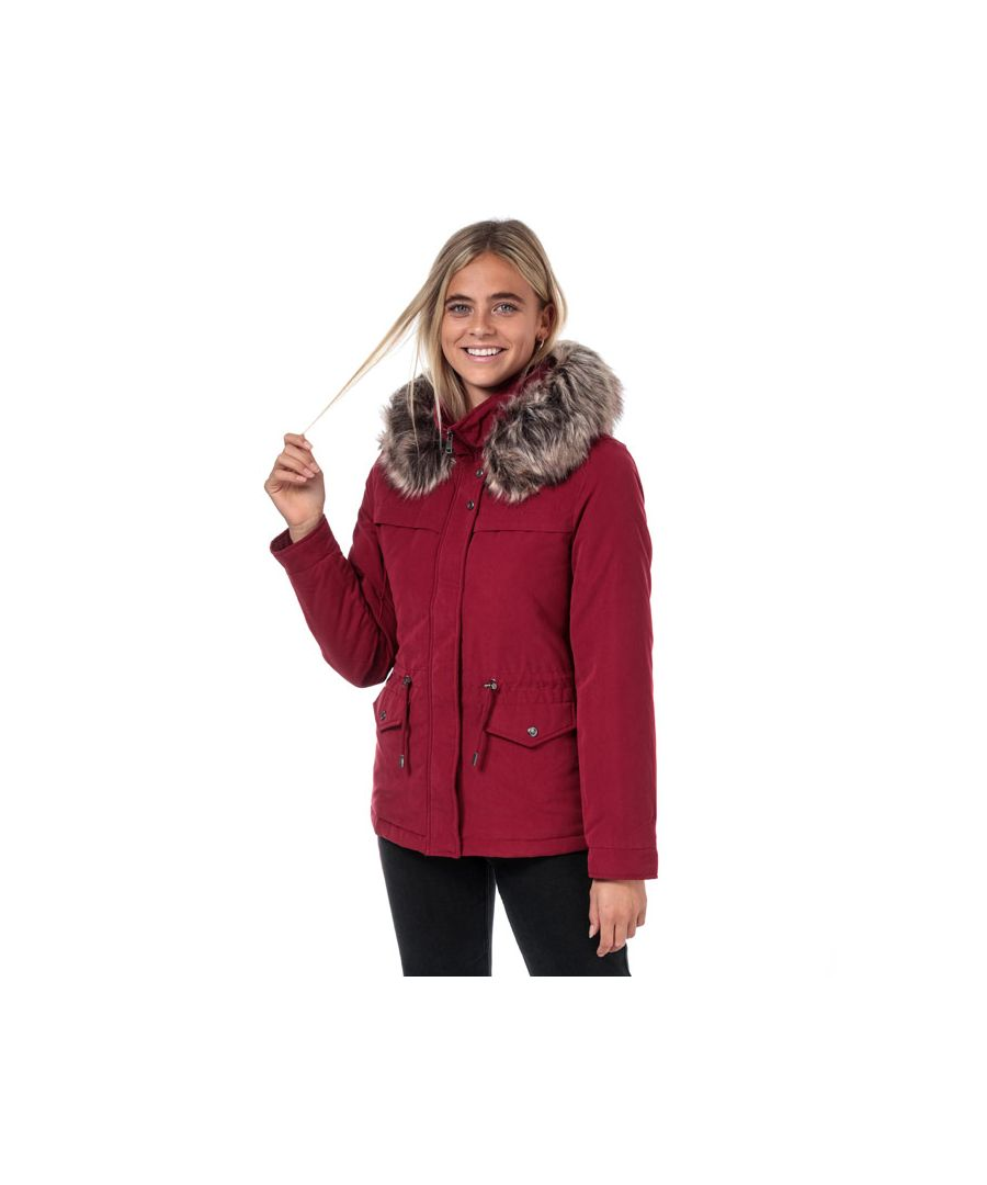 Image for Women's Only Starline Parka Jacket in Red