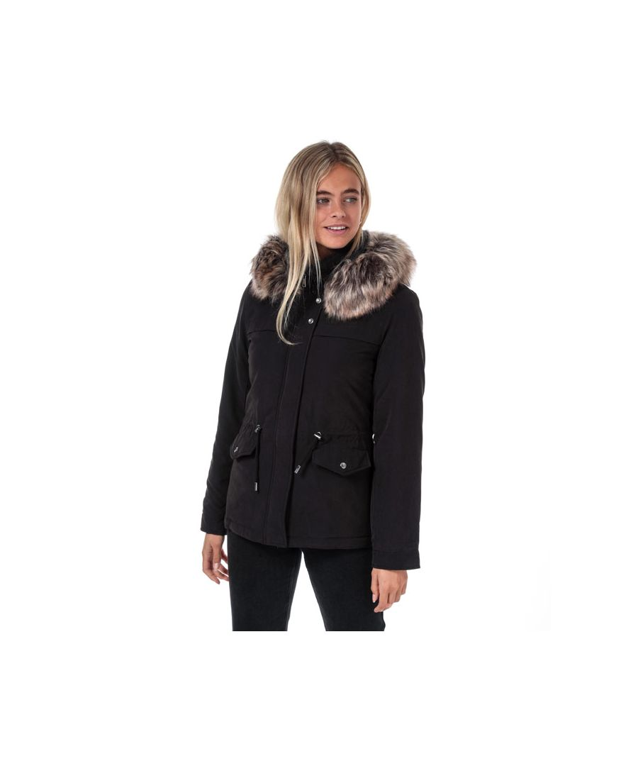 Image for Women's Only Starline Parka Jacket in Black