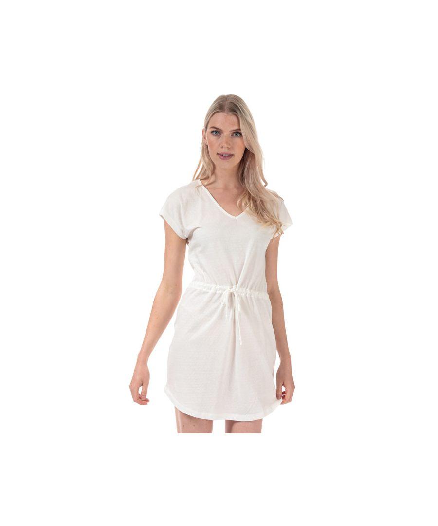 Image for Women's Jacqueline de Yong Pastel Life V-Neck Dress in White