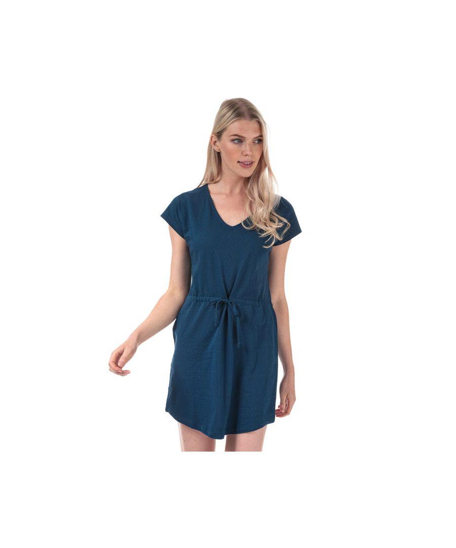 Image for Women's Jacqueline de Yong Pastel Life V-Neck Dress in Blue