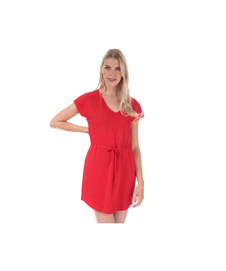 Image for Women's Jacqueline de Yong Pastel Life V-Neck Dress in Red
