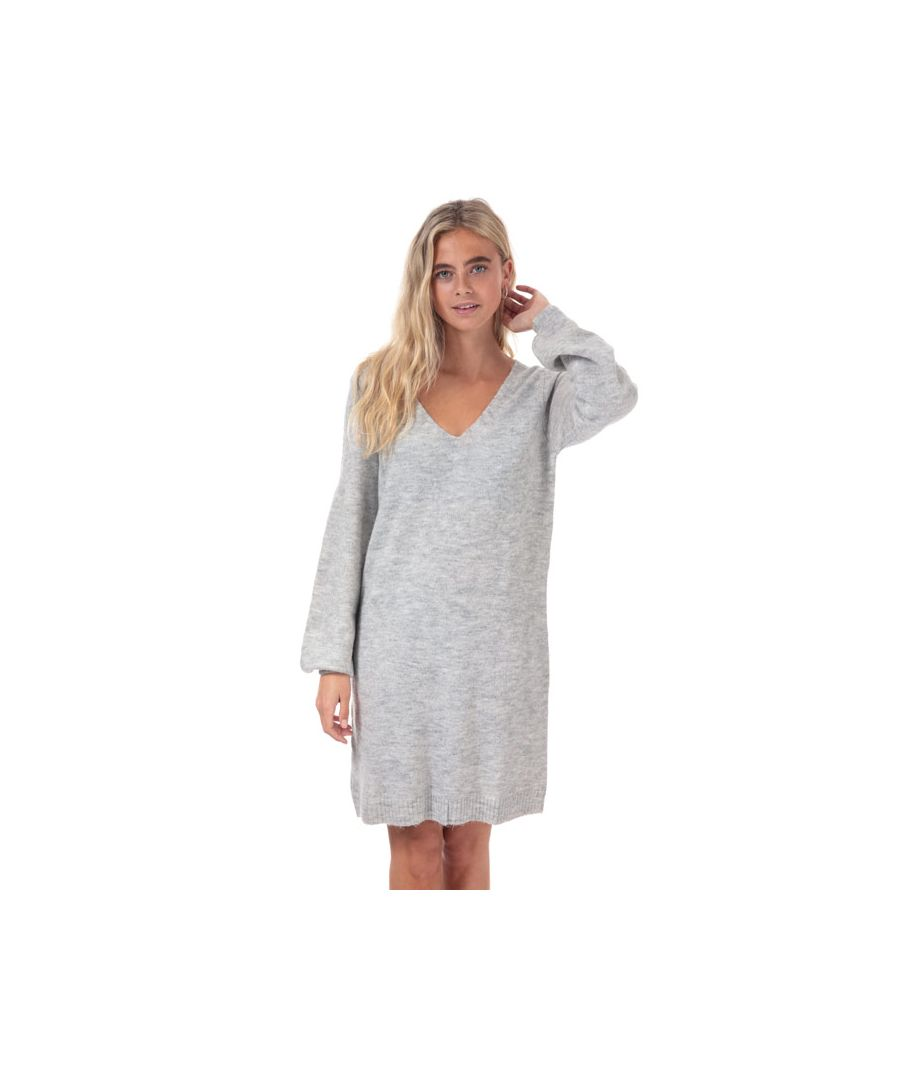 Image for Women's Jacqueline de Yong Elanora Jumper Dress in Light Grey