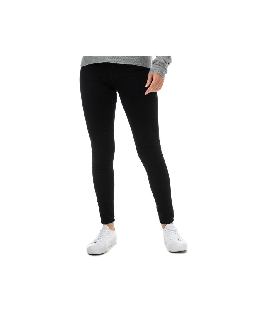 Image for Women's Jacqueline de Yong New Nikki Life High Rise Skinny Jeans in Black