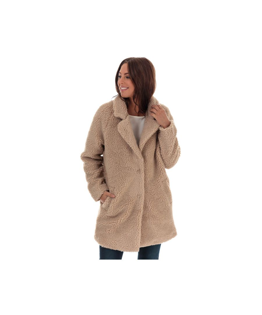 Image for Women's Only Aurelia Sherpa Coat in Sand