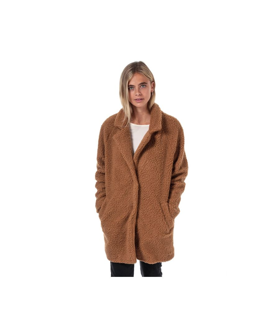 Image for Women's Only Aurelia Sherpa Coat in Brown