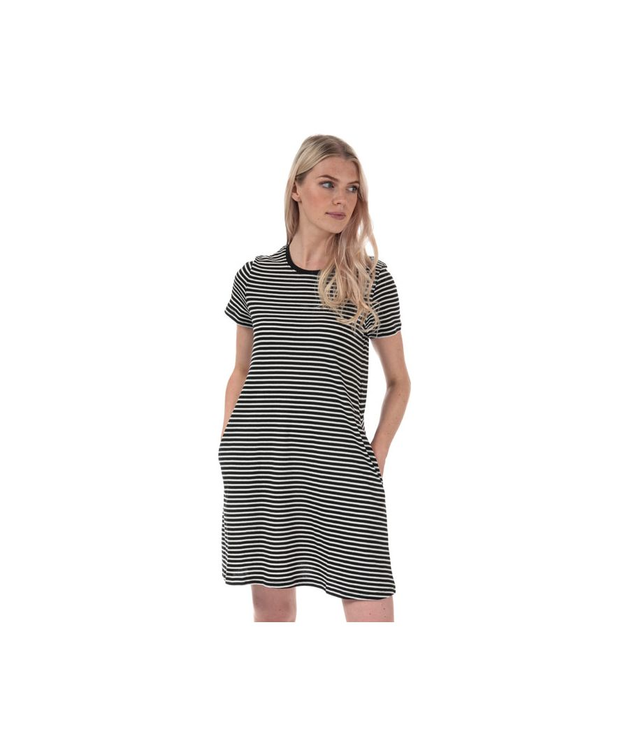 Image for Women's Only May Life A-Line Stripe Dress in Black-White