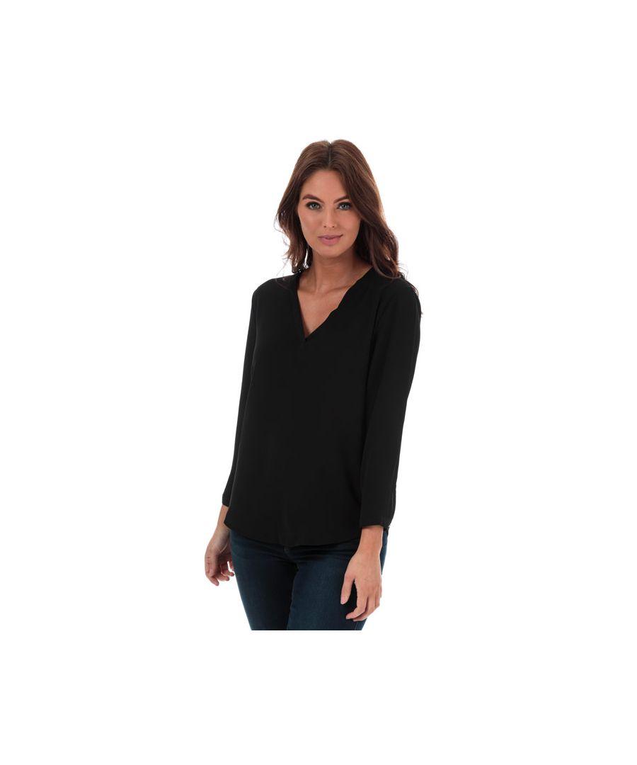 Image for Women's Jacqueline de Yong Milo V-Neck Top in Black