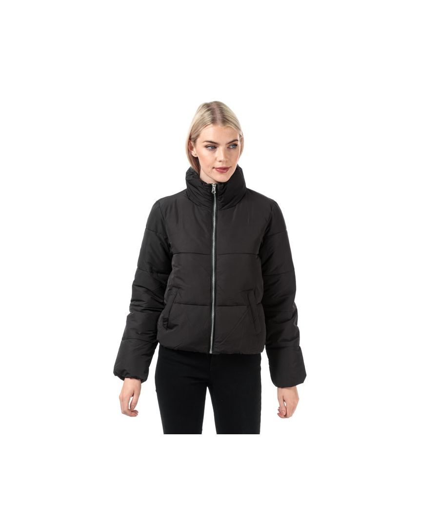 Image for Women's Jacqueline de Yong New Erica Padded Puffer Jacket in Black