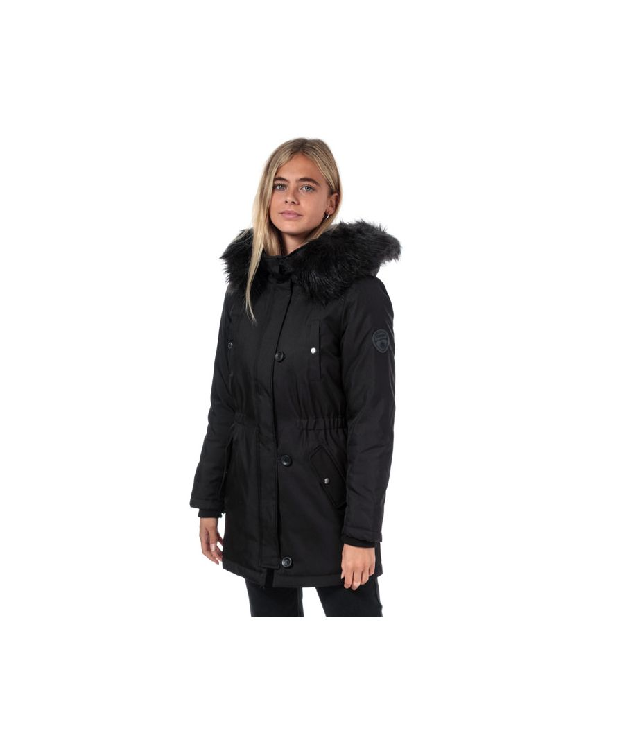 Image for Women's Only Iris Winter Parka Jacket in Black