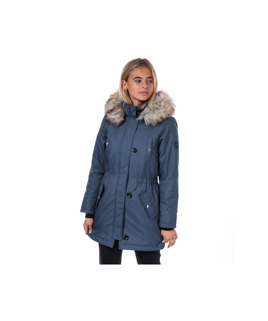 Image for Women's Only Iris Winter Parka Jacket in Indigo